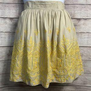 Anthropologie Tiny Sun Stitched Skirt